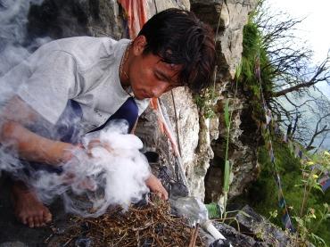 Die heiligen Höhlen von Sikkim, Indien